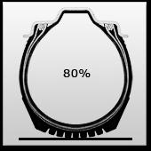 при давлении, повышенном на 20%